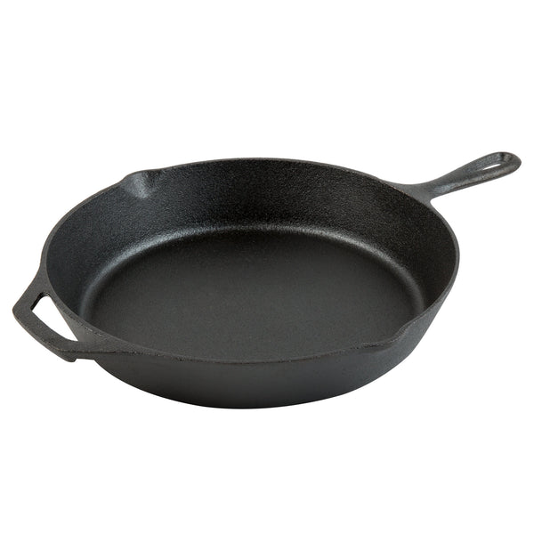 "Choice 12"" Pre-Seasoned Cast Iron Skillet with Helper Handle"