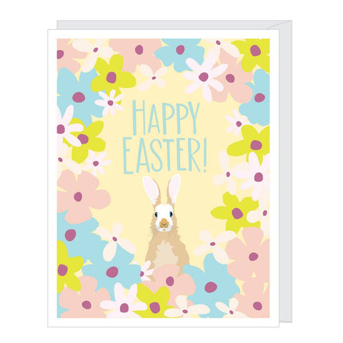Floral Bunny Easter Card
