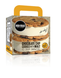 High Road Chocolate Chip Cookies & Malt Sandwich