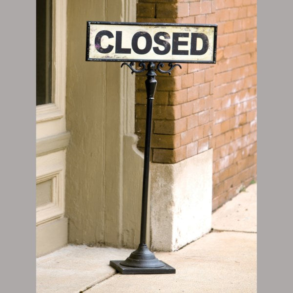 Open/Closed Sign on Stand