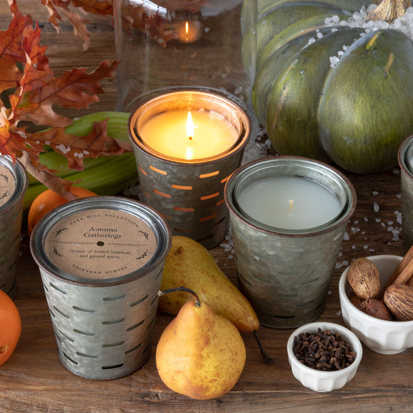 Autumn Brew, Olive Bucket Candle