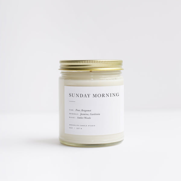 Sunday Morning Minimalist Candle (8oz) - Brooklyn Candle Studio