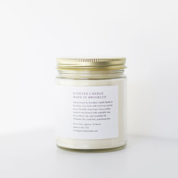 Fern + Moss Minimalist Candle (8oz) - Brooklyn Candle Studio
