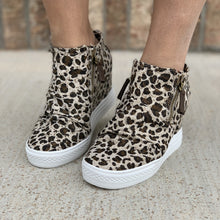 Load image into Gallery viewer, Not Rated Arabelle Sneaker Leopard Wedges