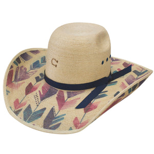 "Charlie 1 Horse ""Straight Arrow"" Palm Leaf Cowgirl Hat"