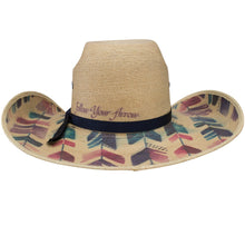 "Load image into Gallery viewer, Charlie 1 Horse ""Straight Arrow"" Palm Leaf Cowgirl Hat"