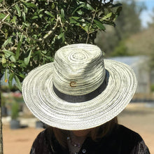 "Load image into Gallery viewer, Charlie 1 Horse ""Hawaii Ya""  Black & Natural Straw Hat"