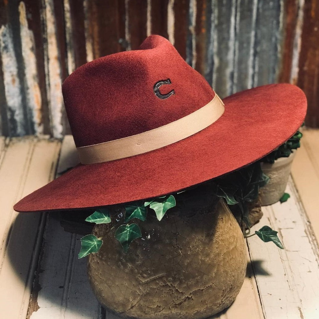 Charlie 1 Horse Burgundy Highway Hat