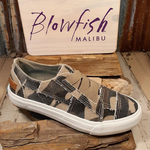 "Blowfish Malibu's ""Marley Sneaker"" in Natural Camouflage Canvas...New!"