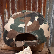 Load image into Gallery viewer, Upcycled LV & Olive Tan Brown Camo Cap