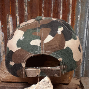 Upcycled LV & Olive Tan Brown Camo Cap