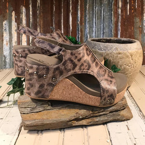 Back in Stock!!! Corkys Carley Platform Distressed Leopard Wedge