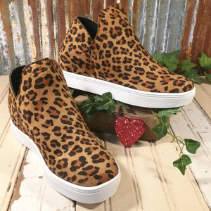 NEW!!! Corkys Jersey Fashion Leopard Wedge Sneaker