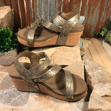 Load image into Gallery viewer, Sbicca Alexandria Wedge Tan/Leopard Booties
