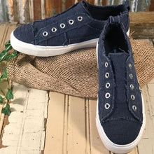 Load image into Gallery viewer, Corkys Womens Babalu Casual Slip On Navy Sneaker