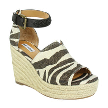 Load image into Gallery viewer, Leif Zebra Espadrille Wedges