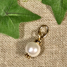 Load image into Gallery viewer, UNOde50 Gold Clad Metal Charm with White Pearl