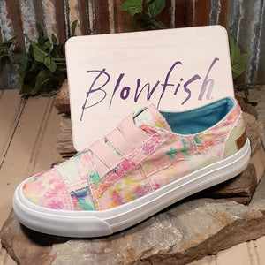 "Blowfish Malibu's ""Marley"" Easy On/Off Slide in Pink Rainwater Canvas Sneaker"