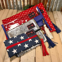 "Load image into Gallery viewer, New!! Makeup Junkie "" Americana Bag Set"" of 4 Bags!"