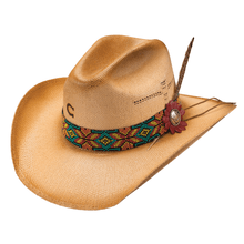 "Load image into Gallery viewer, Women's Charlie 1 Horse ""Gold Digger"" Straw Hat"