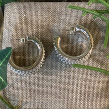 Load image into Gallery viewer, Sterling Oxidized Prosecco Hoop Earrings by Simon Sabbag Designs
