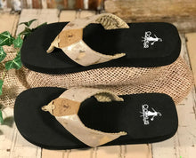 Load image into Gallery viewer, Corkys Footwear Women's Clover Taupe Flip Flop