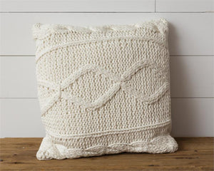 Cream Knitted| Pillow