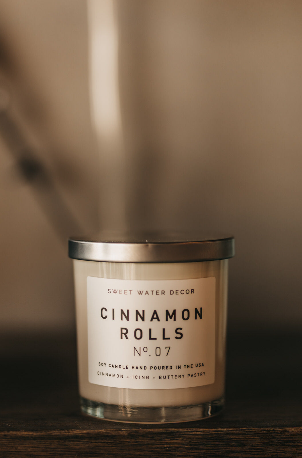 Cinnamon Rolls Soy Candle | White Jar Candle