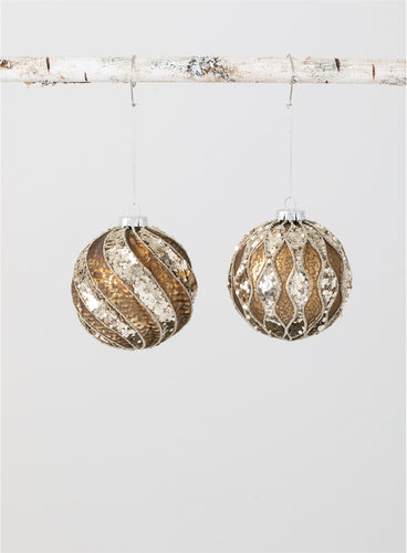 Bronze Glitter Ball Ornament (Radiance Tree)