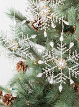 Load image into Gallery viewer, Beaded Snowflake Orn