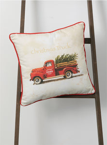 Christmas Truck Pillow