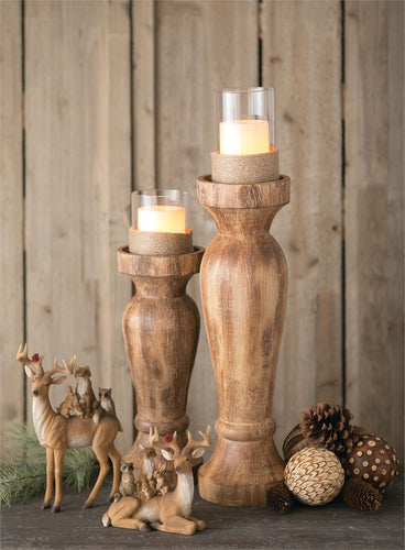 Weathered Wood Candle Holder