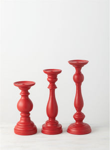 Pillar Candle Holder (Red)