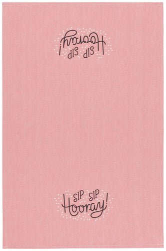 Sip Sip Hooray | Tea Towel