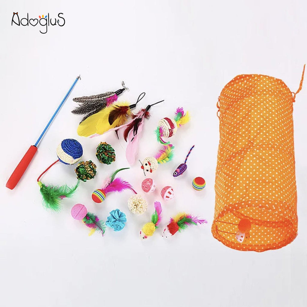 AdogluS 20PCS Cat Playful Cat Toys