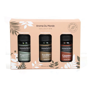 100% 10mL essential oil -Set of 3(Peppermint/Cinnamon /Eucalyptus)