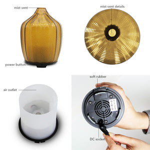 Ultrasonic Aroma Diffusers with cool mist for large bedroom
