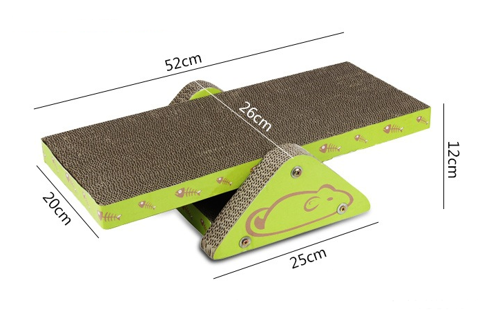 Durable Cat Scratching (Seesaw Pattern)