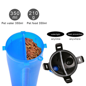 2 in 1 Dog Drinking Water Bottle with Bowls