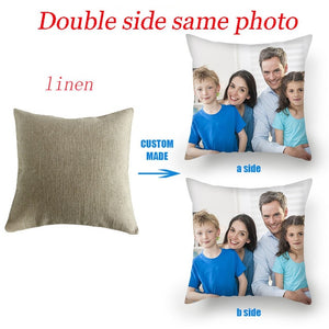 Fuwatacchi Wedding Design Cushion Cover Pet Personal Life Photos Print Customize Pillow Cover Home Decorative Pillows Case Gift