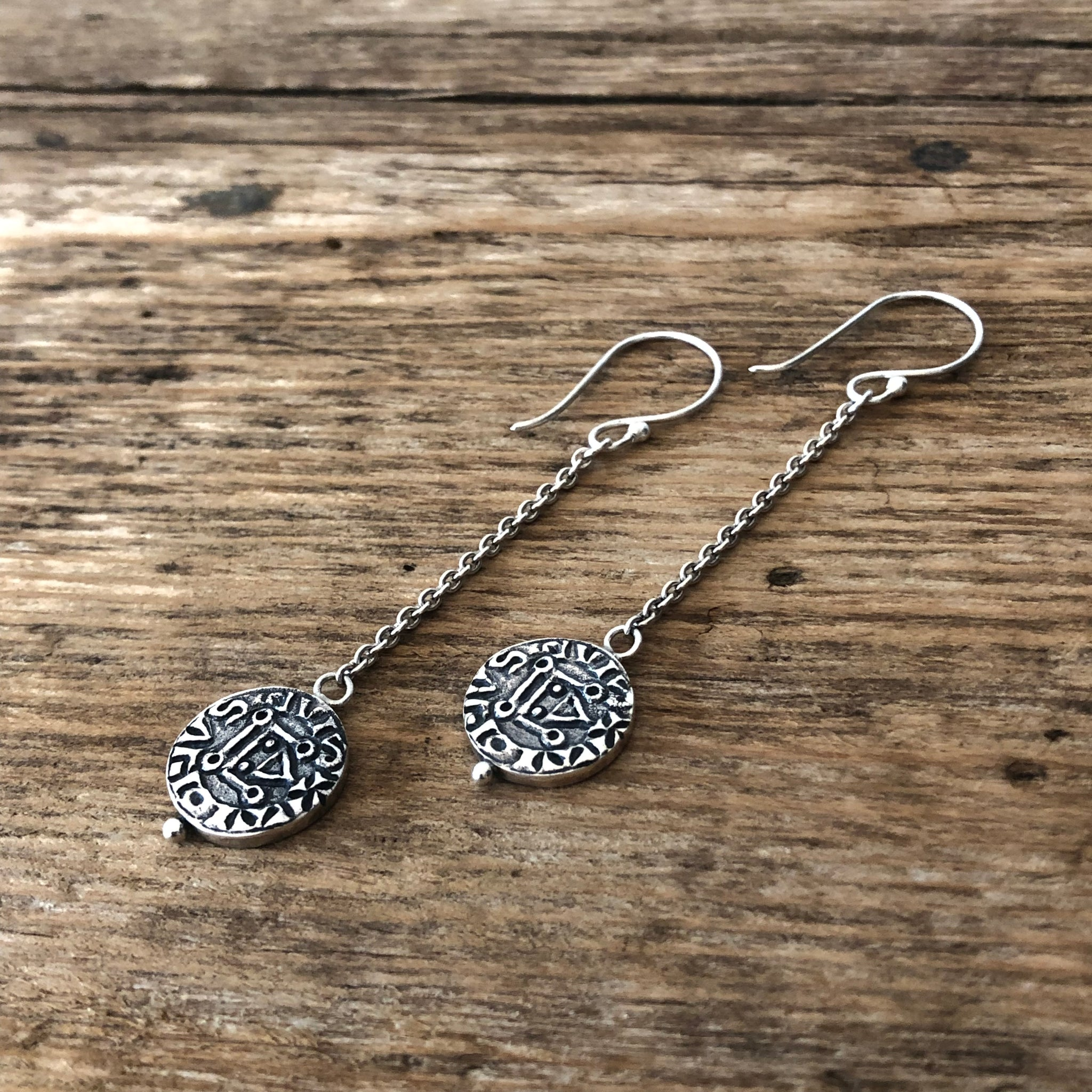 'Templar' Coin Earrings