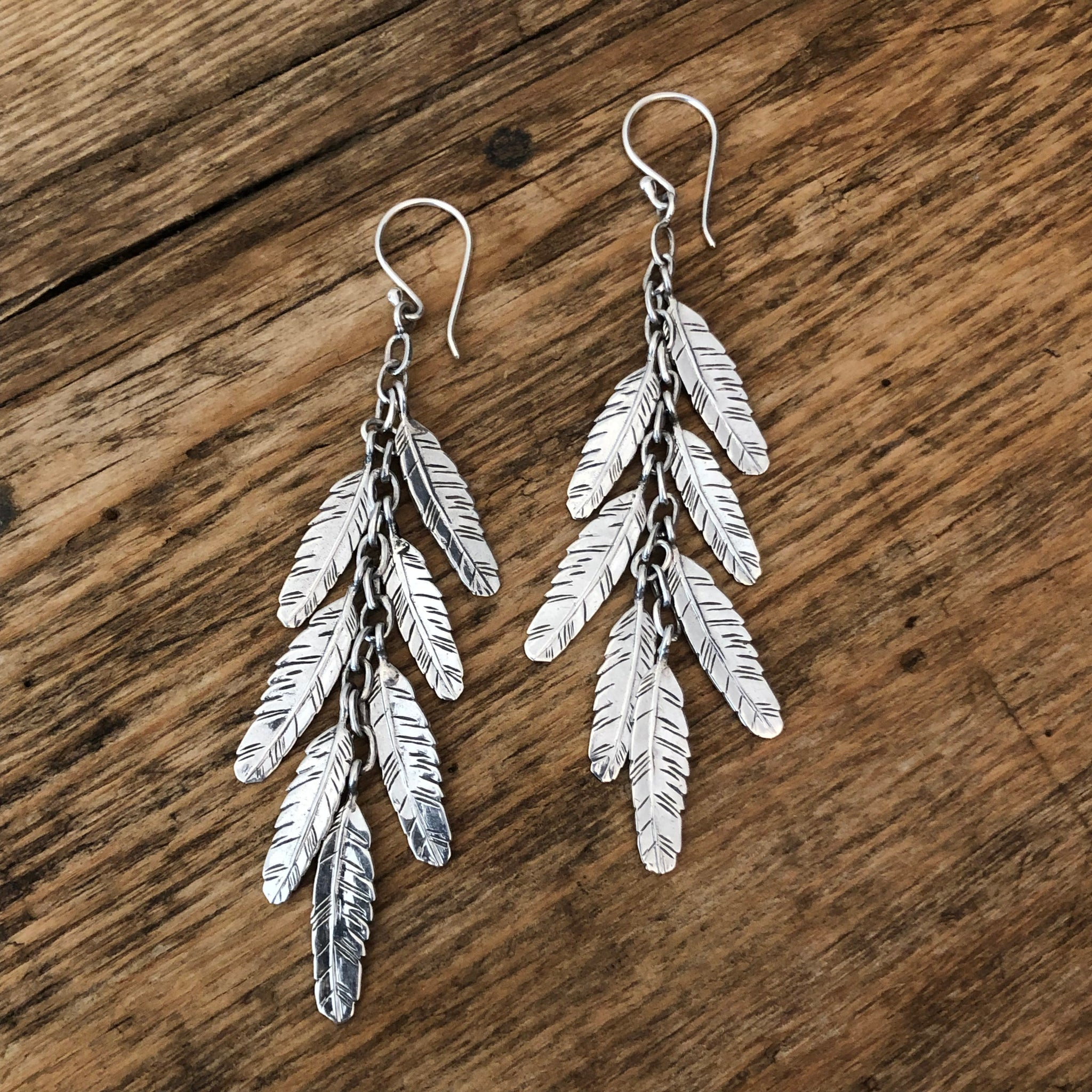 'Seven Feathers for Seven Days' Earrings