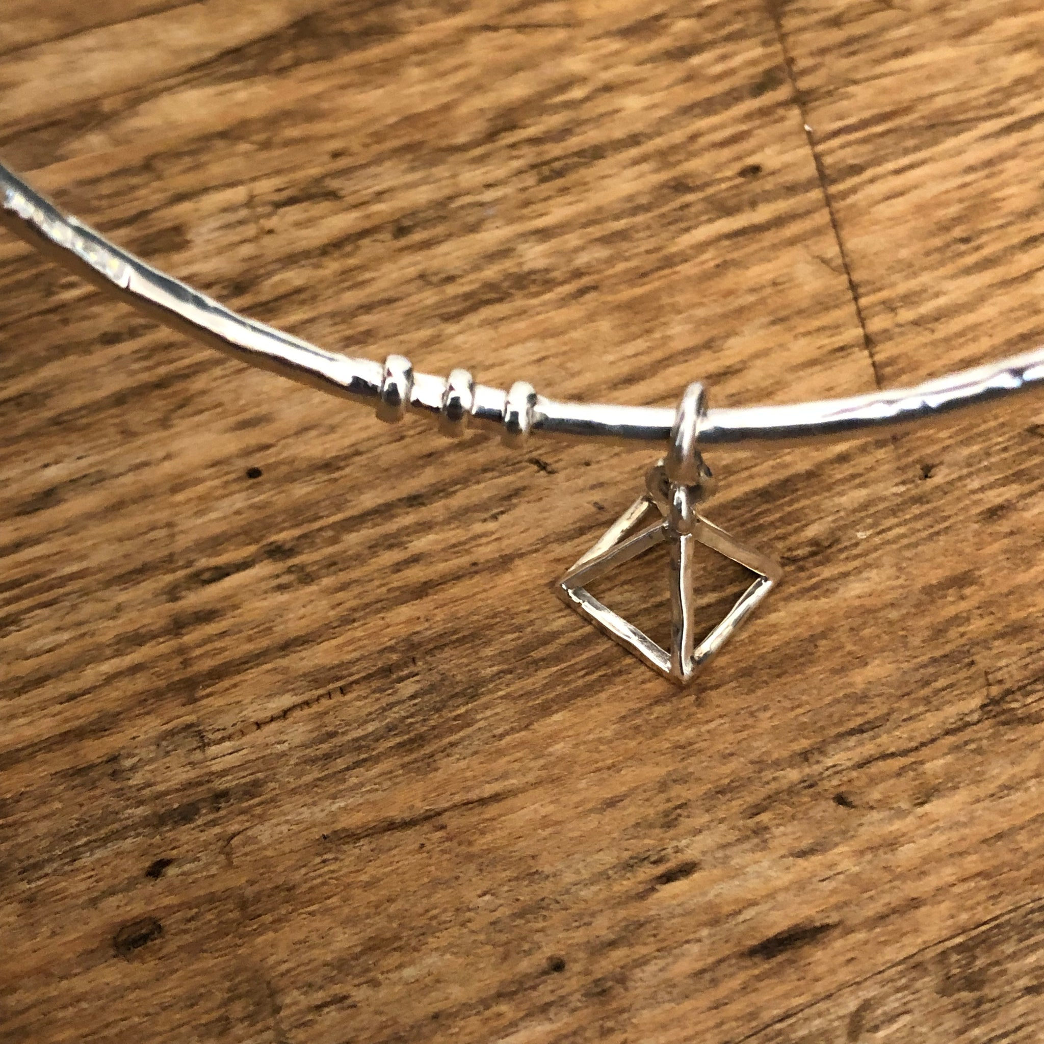 'Fire' Pyramid Bangle