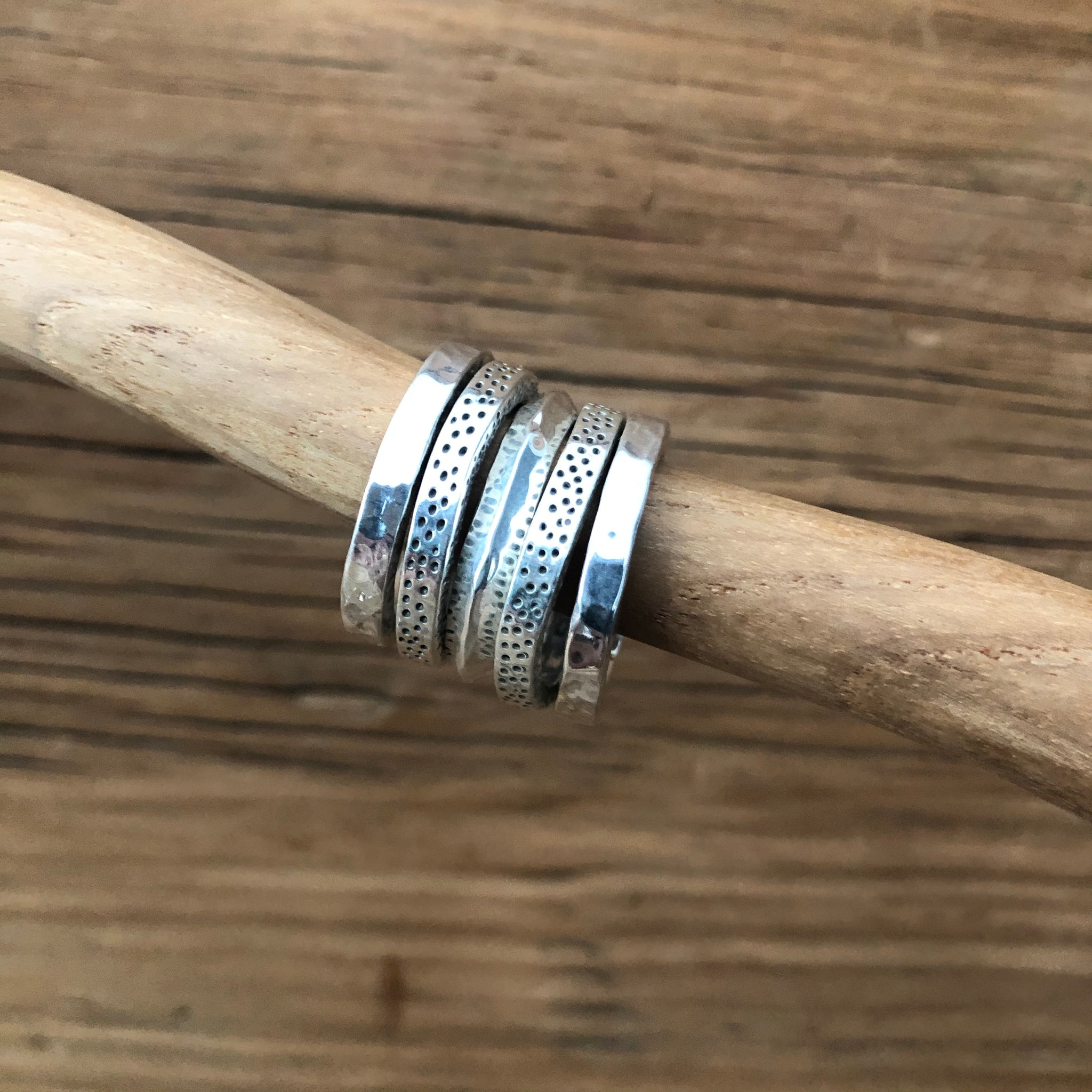 'Wabi-Sabi' Stack Ring