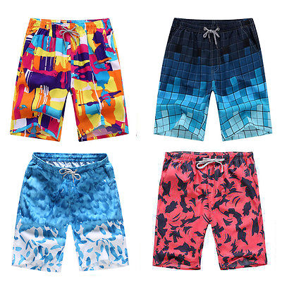 2017 Men Boardshorts Quick-Drying Multi Color Beach Pants Sports  Casual Surf Board Shorts Swim Wear