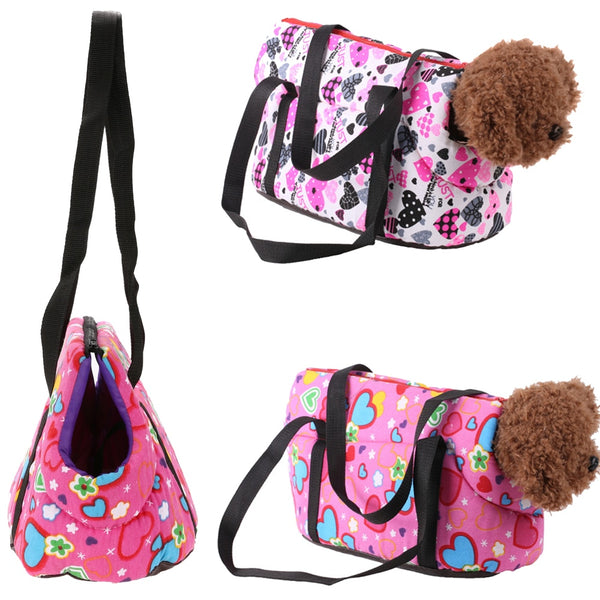 Pet Dog Carriers Portable Outdoor Travel Shoulder Bags for Small Dog Cats Animal Floral Puppy Carrier Pet Supplies S/L