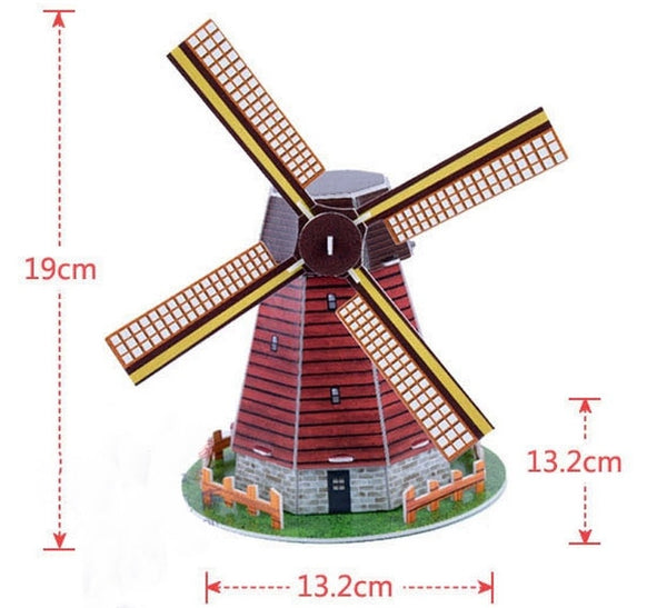 BOHS Scale Paper Miniature Model Eiffel Tower Bridge  Great Wall Leaning Tower 3d Puzzle for Children World Great Architecture