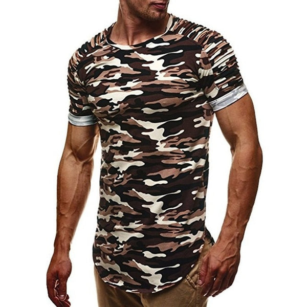 Men's Tops Tees 2018 Fashion Summer Camouflage t shirt Men Casual Short Sleeve t-shirt Homme Plus Size 3XL Tshirts Men