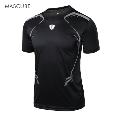MASCUBE 2017 Sport Men Quick Dry Wicking Running T-shirts Mallas Hombre Training Compression Breathable Sports Fitness Gym Shirt