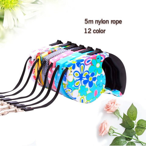 12 Color Dog Harness ABS Automatic Retractable Belt Line Puppy Collar Leash Patrol Rope Walk Cat Traction Supplies Pet Products